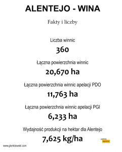 Fakty i liczby - wina z Alentejo, Portugalia.