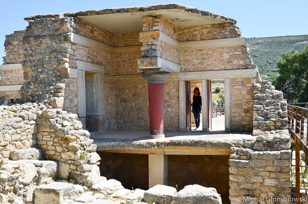 Pałac Knossos - centrum minojskiego świata, Kreta, Grecja.