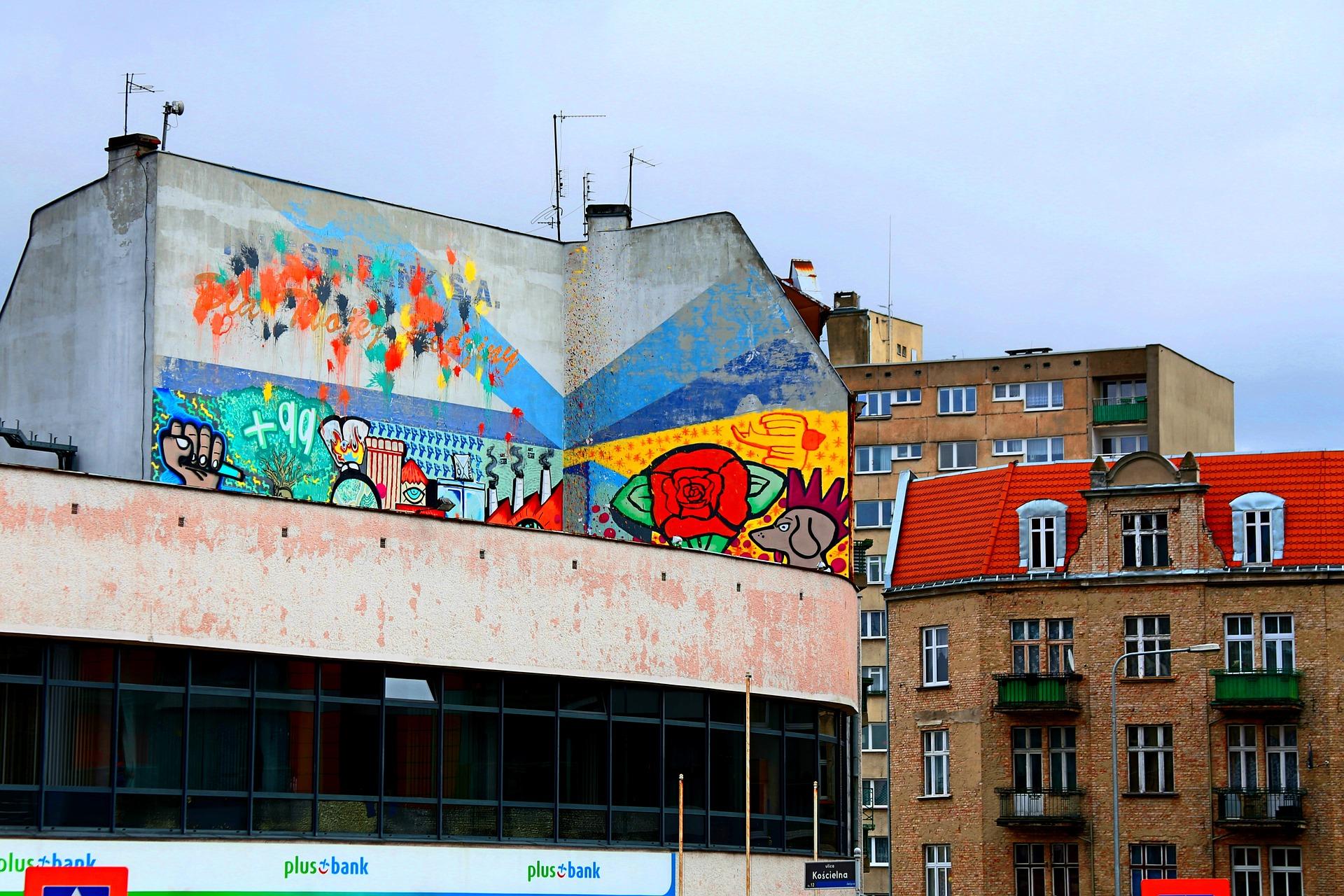 Poznańska dzielnica Jeżyce przyciąga ulicznych artystów / fot. CC0